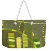 Nyc In Deep Green Weekender Tote Bag