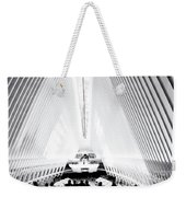 Nyc- Inside The Oculus In Black And White Weekender Tote Bag