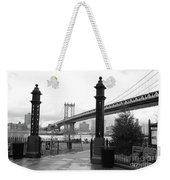 Nyc Manhattan Bridge Bw Weekender Tote Bag