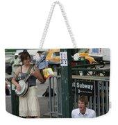 Nyc Street Musicians Banjo Weekender Tote Bag