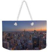 Nyc Sunset Weekender Tote Bag