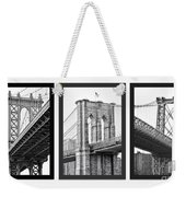 Nyc Three Bridges-east River Weekender Tote Bag