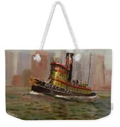 Nyc Tug Weekender Tote Bag by Christopher Jenkins