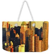 Nyc West Side In Gold And Blue  Weekender Tote Bag