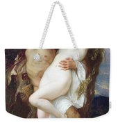 Nymph Abducted By A Faun Weekender Tote Bag by Alexandre Cabanel