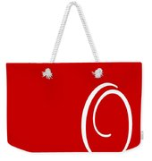 O In White Simple Script Weekender Tote Bag