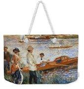 Oarsmen At Chatou Weekender Tote Bag by Pierre Auguste Renoir