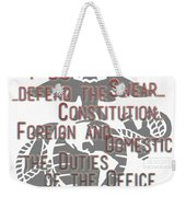 Oath Weekender Tote Bag by TortureLord Art