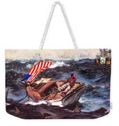 Obama At Sea Weekender Tote Bag