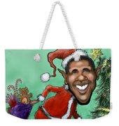 Obama Christmas Weekender Tote Bag