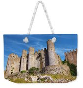 Obidos Castle Weekender Tote Bag by Carlos Caetano