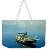 Coastal Wall Art, Ocean Blue, Fishing Boat Paintings Weekender Tote Bag