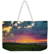 Ocean City Cloudy Sunrise Weekender Tote Bag