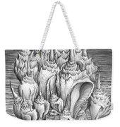 Ocean Fantasy. Huge Shells Weekender Tote Bag