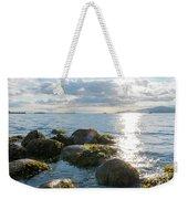 Ocean Flickering Under Sunset Weekender Tote Bag
