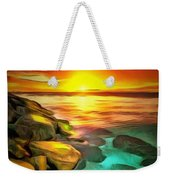 Ocean Lit In Ambiance Weekender Tote Bag