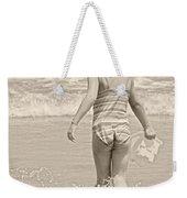 Ocean Moment Quote Weekender Tote Bag