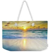 Ocean Reflections At Sunrise Weekender Tote Bag