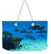 Ocean Striped Dolphins Weekender Tote Bag