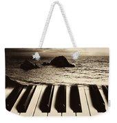Ocean Washing Over Keyboard Weekender Tote Bag by Garry Gay
