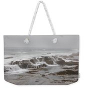 Ocean Waves Over Rocks Weekender Tote Bag