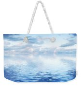 Ocean With Calm Waves Background With Dramatic Sky Weekender Tote Bag