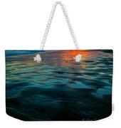 Oceanside Reflective Sunset Weekender Tote Bag