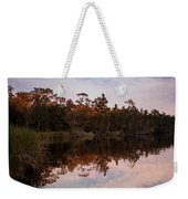 October Reflections On The River Weekender Tote Bag