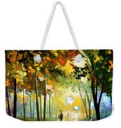 October Reflections - Palette Knife Oil Painting On Canvas By Leonid Afremov Weekender Tote Bag