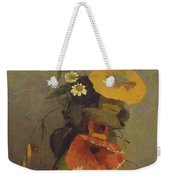 Odilon Redon - Vase With Poppy, Camomile And Bindweed Weekender Tote Bag