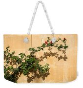 Of Light And Shadow - Bougainvillea On A Timeworn Plaster Wall Weekender Tote Bag