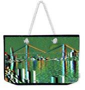 Of Time And The Savannah River Bridge Weekender Tote Bag