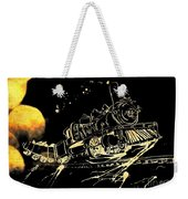 Off The Rails Weekender Tote Bag by Denise Tomasura
