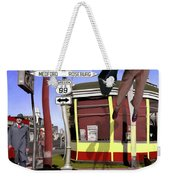 Off To Work Weekender Tote Bag