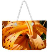 Office Art Floral Artwork Orange Tiger Lily Baslee Troutman Weekender Tote Bag