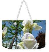 Office Art Giclee Prints White Yellow Iris Flowers Irises Baslee Troutman Weekender Tote Bag