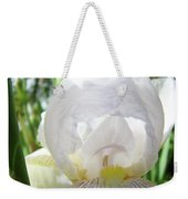 Office Art Irises White Iris Flower Floral Giclee Prints Baslee Troutman Weekender Tote Bag
