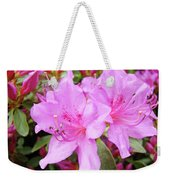 Office Art Pink Azalea Flower Garden 3 Giclee Art Prints Baslee Troutman Weekender Tote Bag