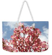 Office Art Prints Blue Sky Pink Dogwood Flowering 7 Giclee Prints Baslee Troutman Weekender Tote Bag