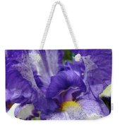 Office Art Prints Iris Flowers Purple White Irises 40 Giclee Prints Baslee Troutman Weekender Tote Bag