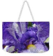 Office Art Prints Iris Flowers Purple White Irises 40 Giclee Prints Baslee Troutman Weekender Tote Bag
