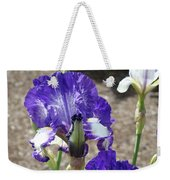 Office Art Prints Irises Flowers 46 Iris Flower Giclee Prints Baslee Troutman Weekender Tote Bag