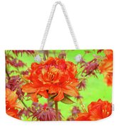 Office Art Prints Orange Azalea Flowers Landscape 13 Giclee Prints Baslee Troutman Weekender Tote Bag