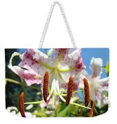 Office Art Prints Pink White Lily Flowers Botanical Giclee Baslee Troutman Weekender Tote Bag