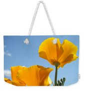 Office Art Prints Poppies Poppy Flowers Blue Skies Giclee Baslee Weekender Tote Bag
