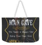 Official Man Cave Weekender Tote Bag