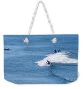 Ogunqit Beach Surfers, February 2014  -21000 Weekender Tote Bag by John Bald