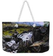 Ogwen Rock Waterfall Weekender Tote Bag