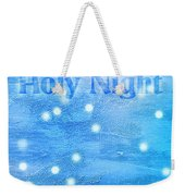 Oh Holy Night Weekender Tote Bag by Jocelyn Friis