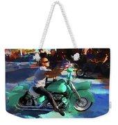 Oh So Turq Biker Weekender Tote Bag